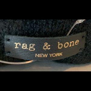 NEW Rag & Bone black pebble leather gloves w/ tags